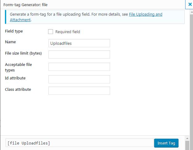 WordPress Contact form 7 设置文件上传 3