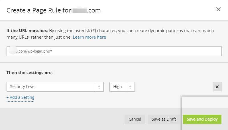 免费版CloudFlare CDN(Page Rules)页面设置参考 5