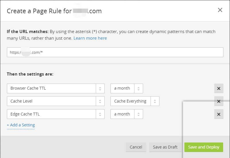 免费版CloudFlare CDN(Page Rules)页面设置参考 1