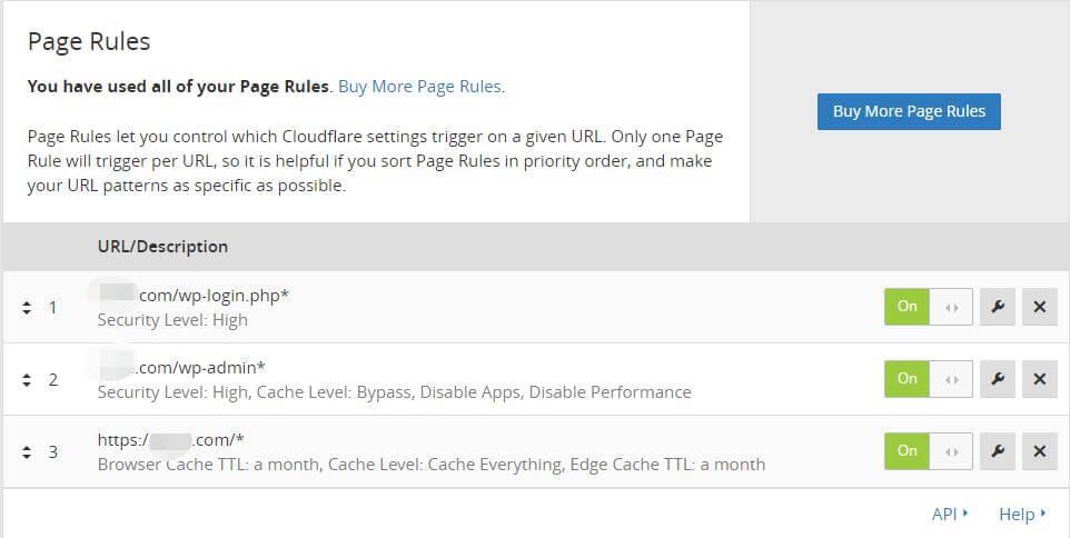 免费版CloudFlare CDN(Page Rules)页面设置参考