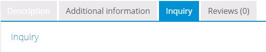 Woocommerce产品增加tabs标签选项卡 1