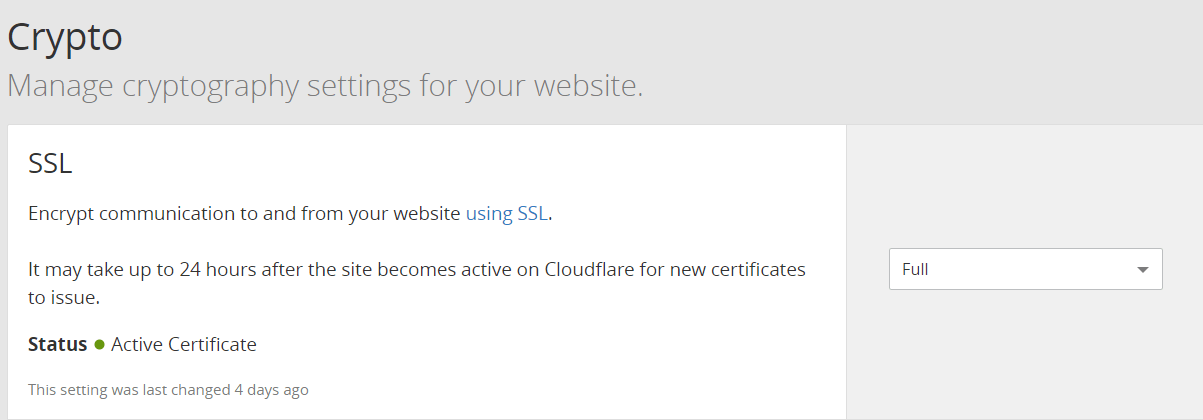 Cloudflare免费ssl证书设置 3