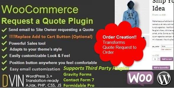 WooCommerce Request a Quote询盘插件免费下载