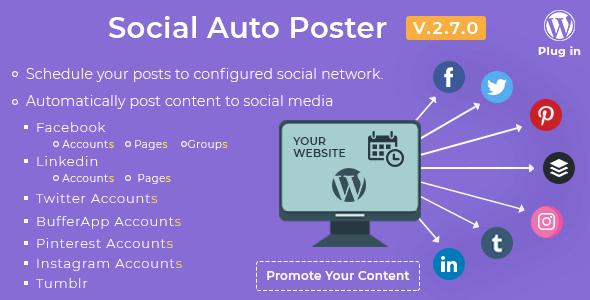 WordPress自动同步社交插件Social Auto Poster免费下载