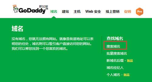 GoDaddy域名注册教程