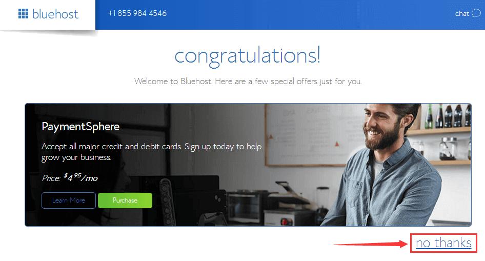 Bluehost美国主机虚拟空间注册购买教程 21