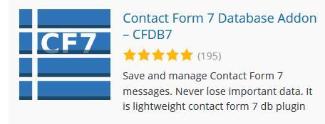 Wordpress后台读取Contact form 7表单 3