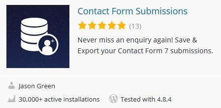 Wordpress后台读取Contact form 7表单 1