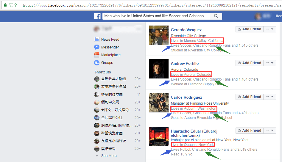 Facebook Graph Search搜索语法定向找精准客户