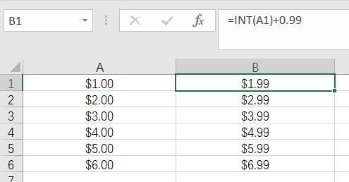 Excel表格固定小数点后数值,如99 1
