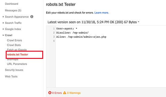 Robots.txt测试工具