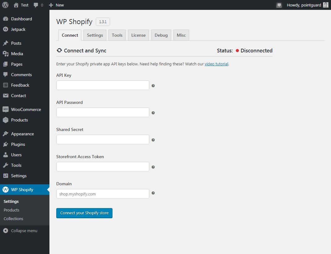 将wp shopify插件与shopify集成