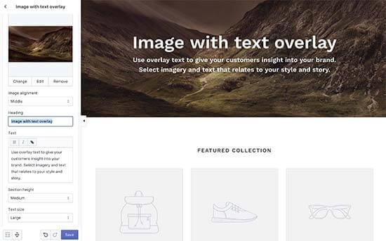 Shopify customization