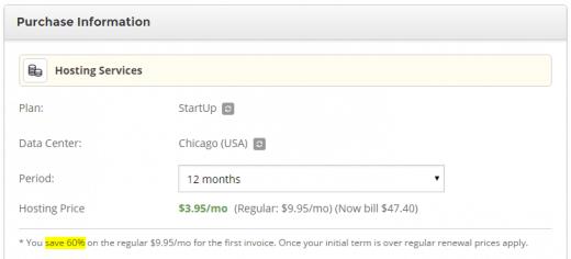 验证是否已应用SiteGround折扣