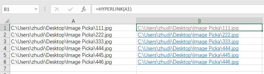 Excel将网址链接批量转换成超链接,返回数值保持链接格式 1