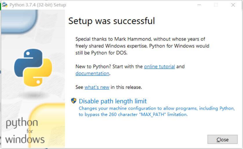 Windows10系统安装Python教程 25