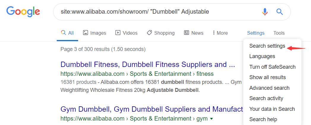 提取google中alibaba国际站页面URL获取关键词 2