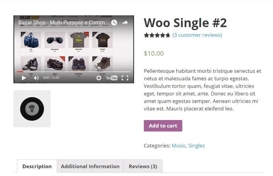 WooCommerce商城为产品添加视频
