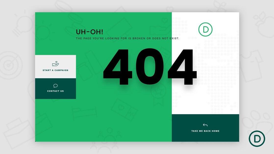 Divi builder生成404页面模板